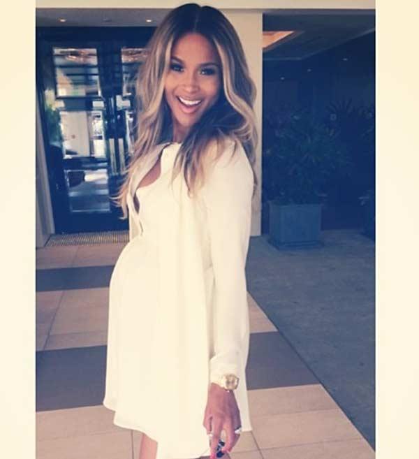 pregnant singer Ciara baby bump
