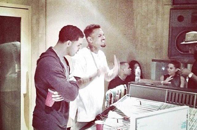 Chris Brown and Drake hit the studio
