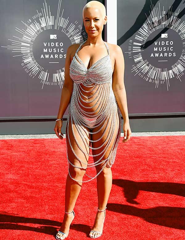 Amber Rose 2014 MTV VMA chain dress