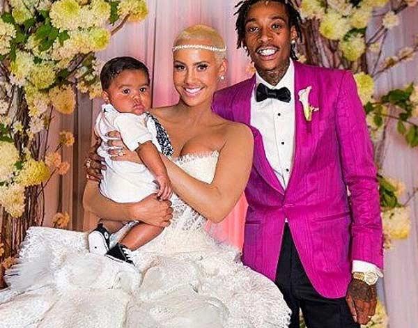 Amber Rose Sebastian Wiz Khalifa wedding photo