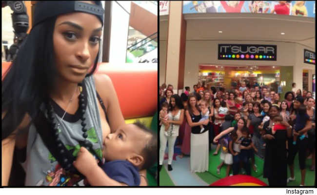 Ashley Nicole breastfeeding protest Florida mall