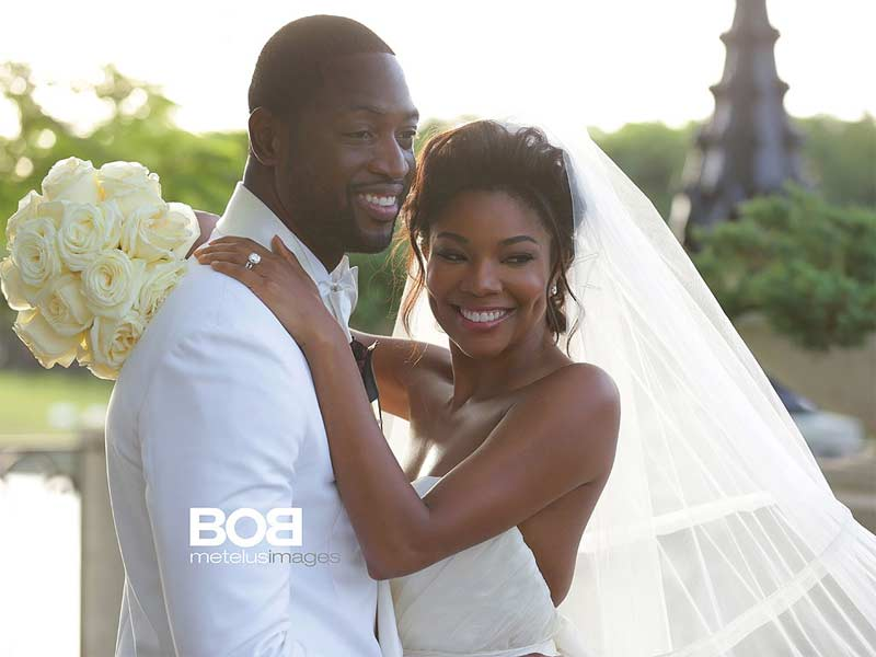 Gabrielle Union Dwyane Wade wedding photo