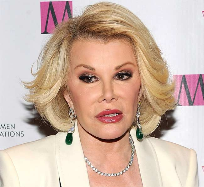 Joan Rivers comedian, actress, tv host