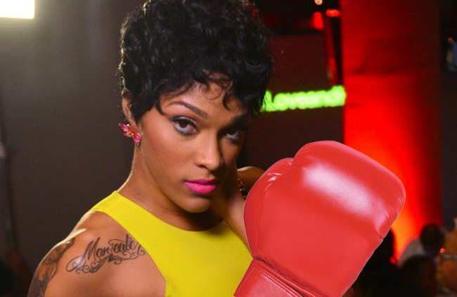 Joseline Hernandez boxing glove