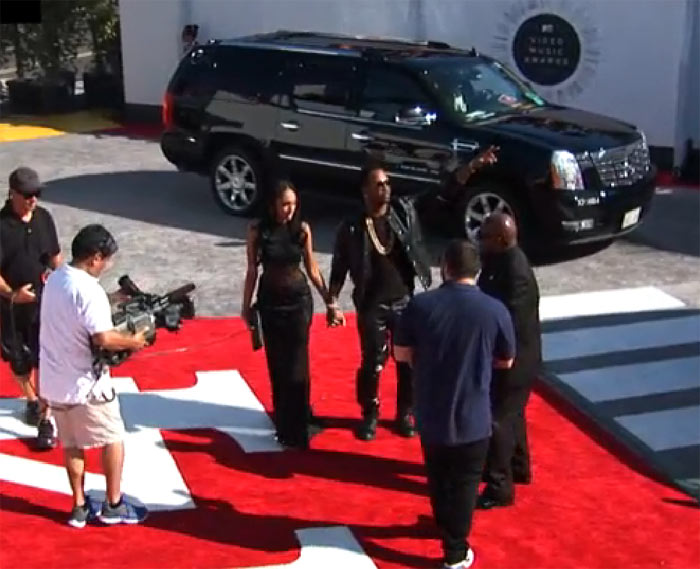 Juicy J and girlfriend Regina at MTV VMAs