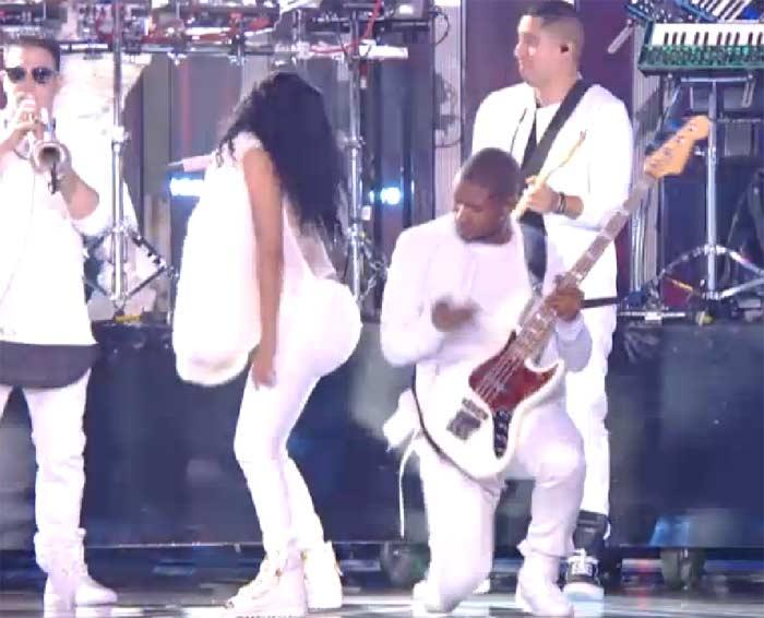 Usher Nicki Minaj booty slap MTV VMA