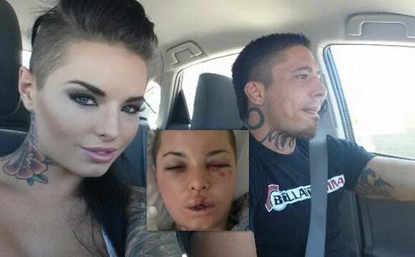 entertainer Christy Mack and MMA fighter War Machine