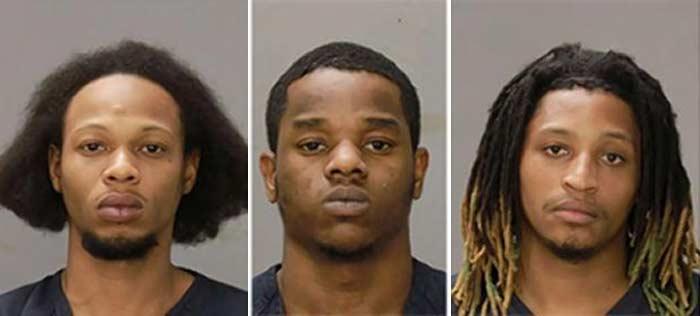 3 men arrested woman beat rap battle