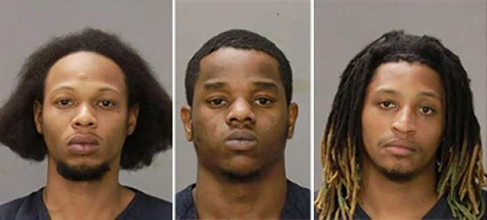 3 men arrested woman beat rap battle