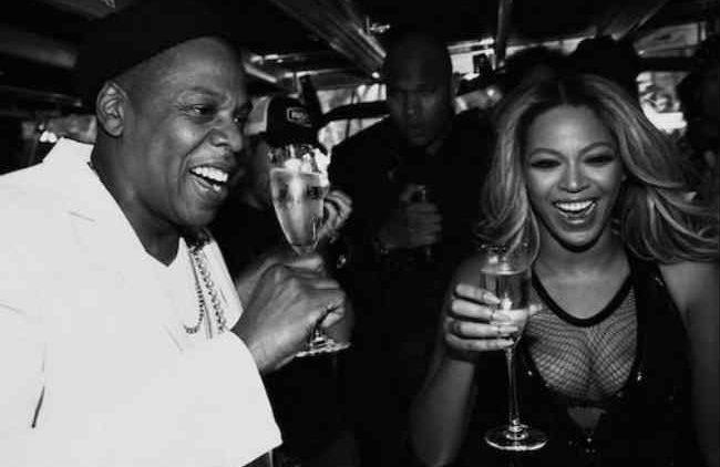 Jay Beyonce toast Paris
