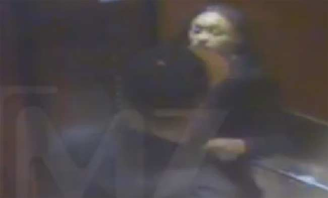 Ray Rice and fiancee in elevator