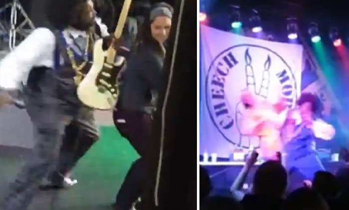 Afroman Punches One Fan and Throws Another One