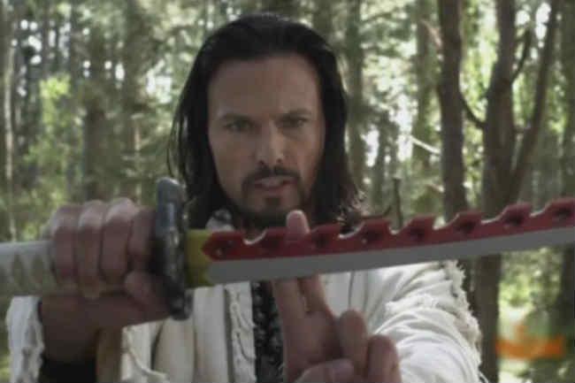 Ricardo Medina actor holding sword