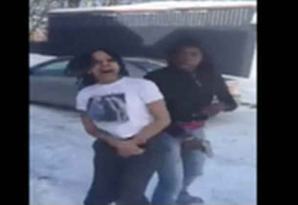 """These 2 Girls GO CRAZY Twerkin in the Snow and Wildin' Out To Yo Gotti's """" F–k You"""" Song!"""