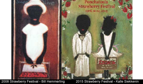 2008 and 2015 Strawberry Festival poster