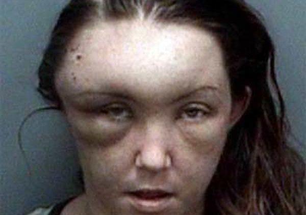 Jenny Peak mugshot beat herself up