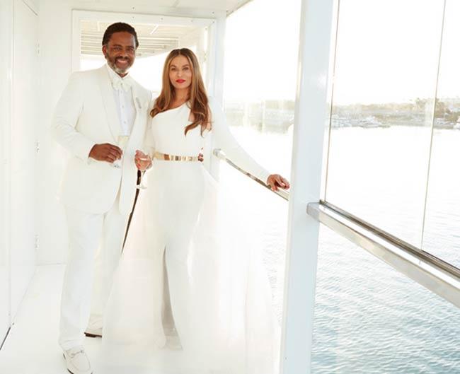 Tina Knowles Andrew Lawson wedding photo