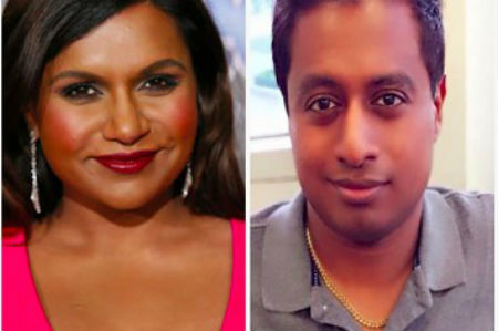 comedian Mindy Kaling and brother Vijay Chokalingam