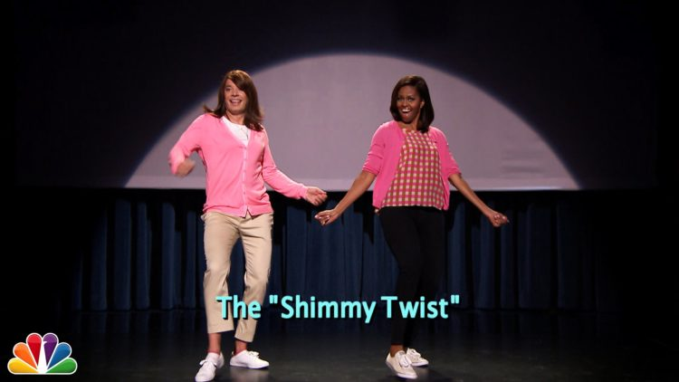 Jimmy Fallon And Michelle Obama Evolution Of Mom Dancing (Part 2)