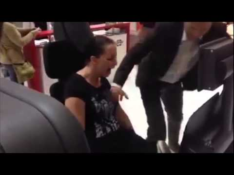 This Is Why You Never Lock Your Legs Doing Leg Presses! Poor Woman Breaks Both Her Legs