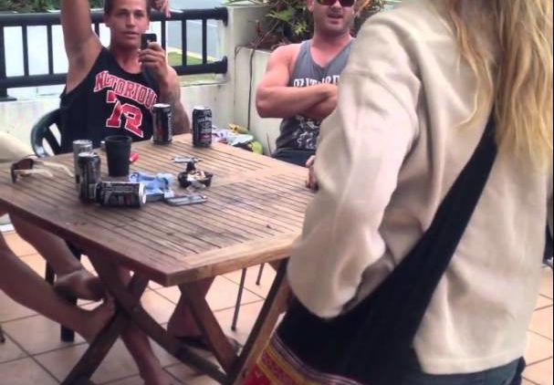 Crazy Woman Crashes Party And Gets Smashed With Chair For Refusing to Get Off the Property