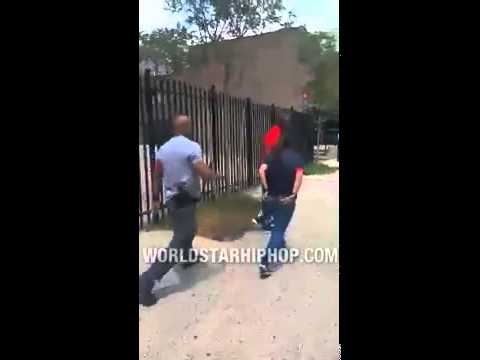 Fight Breaks Out Between NYC Police Detective & Man After An Unlawful Search!