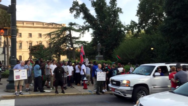 Fight Erupts Into Brawl Involving Protesters Over Confederate Flag Outside South Carolina State House
