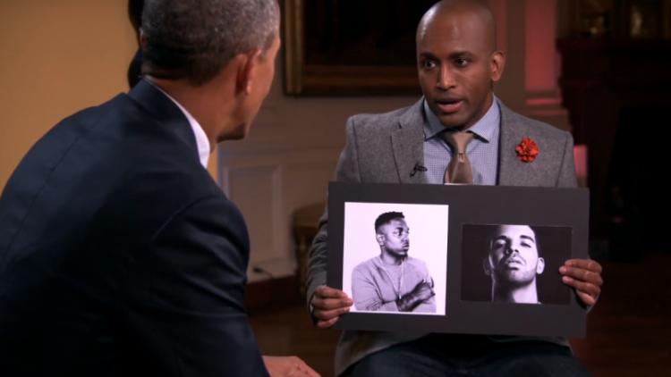 President Obama Kendrick Lamar Drake Rap Debate