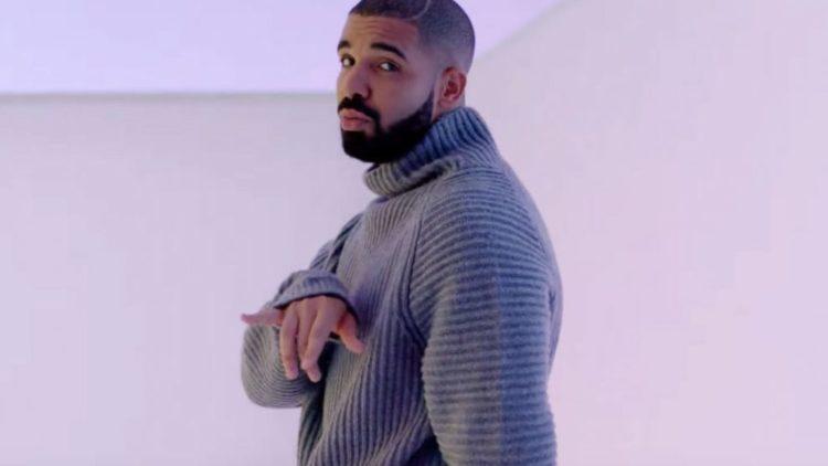 Drake in sweater