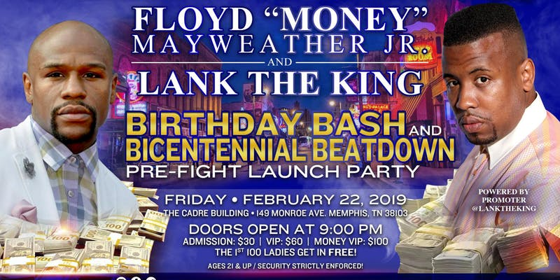 Floyd Mayweather Jr Lank The King Birthday Bash Memphis